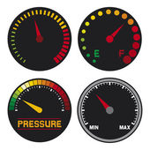 Speedometers — Stock Vector