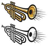 Trumpets — Stock Vector
