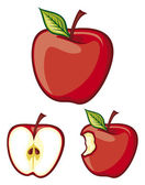 Red apples — Stock Vector