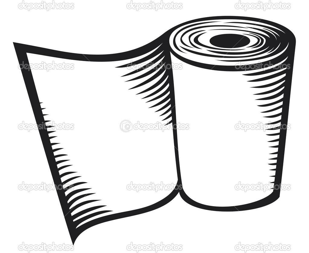 Cartoon Toilet Paper Roll