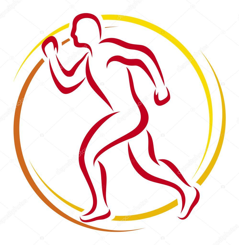 Running Logo Vector Running Man Symbol Vector by