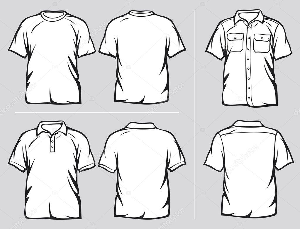 Conjunto de plantillas de camisa — Vector de stock ...