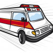 Ambulance van - Stock Vector