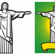 Brazil design - Christ — Stock Vector