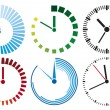 Clock icons — Stock Vector #12800716