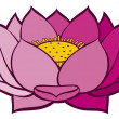 Royalty-Free Stock Vector Image: Lotus flower