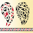 Set of maori tribal tattoo — Stock Vector #12800813