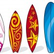Set of surfboards — Stock Vector #12800996