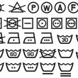Set of washing symbols - Stok Vektör