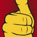 Vector hand showing thumbs up — Stock Vector