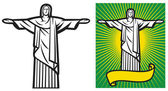 Brasilien-Design - christ — Stockvektor