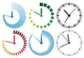 Saati simgeler — Stok Vektör