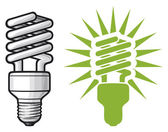 Energy saving light bulb — Stockvector