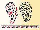 Set of maori tribal tattoo — Stock Vector