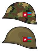 Army helmets — Stock Vector