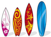 Set of surfboards — Stock Vector