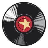 Vector vinyl disc — Stock Vector