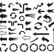 Stock Vector: Arrows icons (arrows icons set)