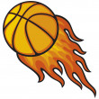 Basketball ball in fire — Stock Vector #12826843