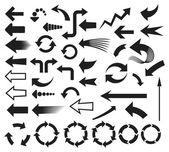 Strzałki ikony zestaw ikon (strzałki) — Wektor stockowy