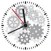 Vector clock — Stock Vector