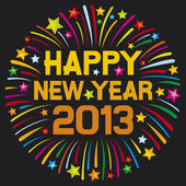 Happy new year 2013 — Vector de stock
