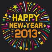 Heureuse nouvelle année 2013 — Vecteur