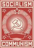 Socialism - communism poster — Stock Vector
