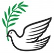Royalty-Free Stock Vector Image: Dove of peace (peace dove, symbol of peace)