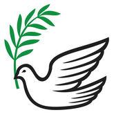Gołębica pokoju (pokój gołębica, symbol pokoju) — Wektor stockowy