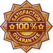 100 percent satisfaction guarantee label — Stock Vector