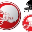 Stock Vector: Americfootball helmet icon