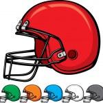 American football helmet collection — Stock Vector