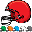 Stock Vector: Americfootball helmet collection