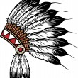 Vector de stock : Native americindichief headdress