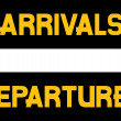 Stock Vector: Arrival and departures airport signs