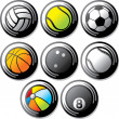 Sport ball icons - Grafika wektorowa