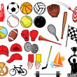 Big sports collection — Stock Vector