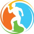 Постер, плакат: Abstract runner healthy lifestyle icon