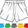 Stock Vector: Boxer shorts collection