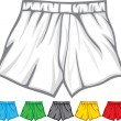 Boxer shorts collection — Stock Vector
