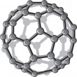 Molecular structure of the C60 buckyball — Stock Vector