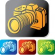 Royalty-Free Stock Vector Image: Camera icon set