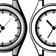 Wrist watch — Image vectorielle
