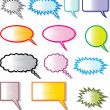 Speech bubbles (comic speech bubbles) — Stock Vector