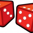 Red dices — Vector de stock