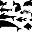 Stock Vector: Fish icons set