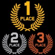 Stock Vector: First place, second place and third place