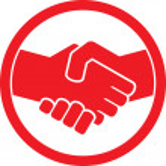 Handshake symbol (handshake emblem, handshake sign) — Stock Vector #26762679