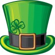 St patrick green hat — Stock Vector